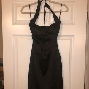 Caché Black Halter Silk Dress - Size 2